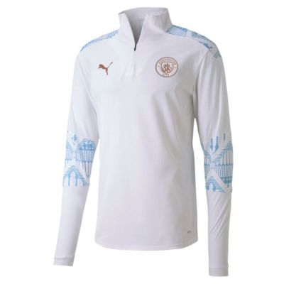 Manchester City 1/4 Zip Top Wh