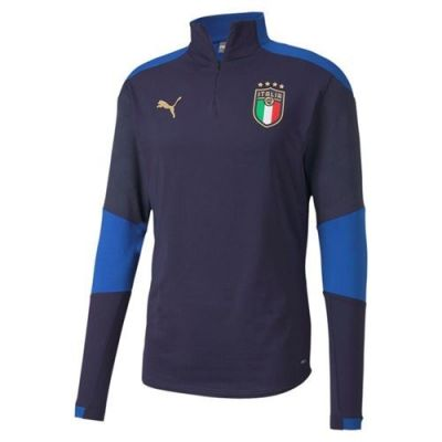 Italia 1/4 Zip Top Navy Euro21